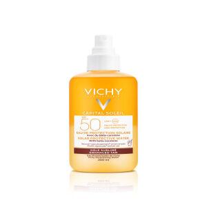 Køb Capital Soleil Enhanced Tan Protective Water SPF50 200 ml online hos apotekeren.dk