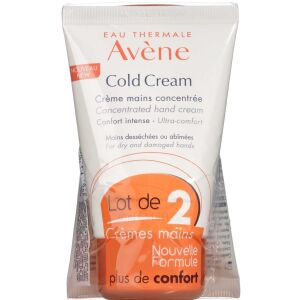 Køb Avene Cold Cream Handcream Duo 2 x 50 ml online hos apotekeren.dk